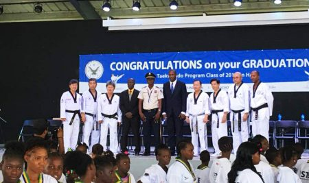 Taekwondo education program completion ceremony in Haiti