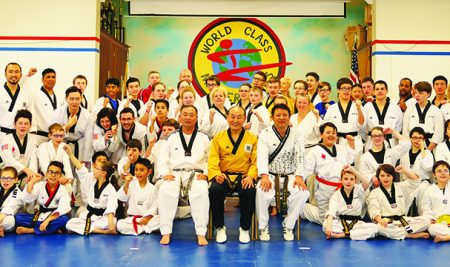 Poomsae seminar led by Hwang In-sik (Taekwondo 9th Dan)