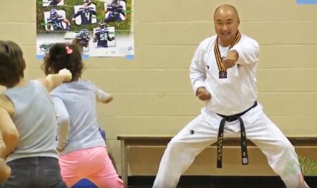 Grand Master Kim in Browne elementary school